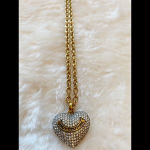 Juicy Couture Long Pavé Heart Necklace
